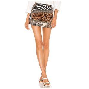 NEW! Superdown Maggie Mixed Print Mini Skirt Small